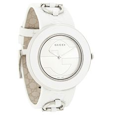 GUCCI LADIES 129 U-PLAY SERIES INTERCHANGEABLE LEATHER BAND SWISS QUARTZ WATCH  - Polished Stainless Steel Case & Buckle - Silver Dial - Silver Tone Hour & Minute Hands - White Bezel  - Sapphire Crystal - Swiss Quartz Movement - Water Resistant Women's Dress Watches, Stainless Steel Case, White Women, Quartz Watch, Michael Kors Watch, Bracelet Watch, Sapphire, Graduation, Gucci