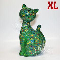Pomme Pidou Katze Caramel XL grün Vögel
