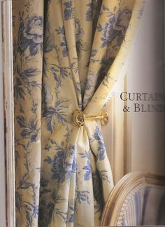 Vintage LAURA ASHLEY Pelham Stripe Blue Rose by LauraAshleyVintage