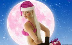 Bikini Christmas Girl with Gift HD Wallpaper Christmas And New Year, Merry Christmas, Christmas Gifts, Christmas Wallpaper Hd, Snow Maiden, Best Dance, Everything Pink, Christmas Background, Girl Wallpaper