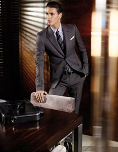 Beautiful business suit.