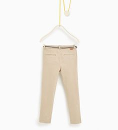 ZARA - KIDS - Trousers with appliqué belt