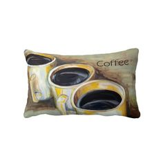 Artistic Coffee Accent Pillow
