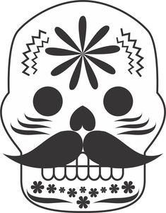Colección más de 50 dibujos para colorear el día de los Muertos, diferentes niveles de dificultad - Imagenes Educativas Moldes Halloween, Halloween Coloring Pages, Spanish Culture, Paper Crafts, Diy Crafts, Skull Art, Art Activities, Painted Rocks, Coloring Books