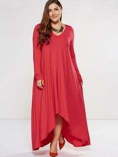 SHARE & Get it FREE | Plus Size Maxi Asymmetrical Smock DressFor Fashion Lovers only:80,000+ Items • New Arrivals Daily • Affordable Casual to Chic for Every Occasion Join Sammydress: Get YOUR $50 NOW!