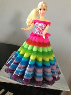 Doll Jelly Cake - adapt with action figures. Jello Cake, Jello Desserts, Jello Recipes, Bolo Barbie, Barbie Cake, Barbie Doll, Barbie Birthday, Barbie Party, Agar Agar Jelly