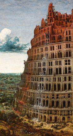 Pieter Brueghel l'Ancien, La Tour de Babel (Rotterdam) http://casaprints.com/fr/184-pieter-brueghel-l-ancien