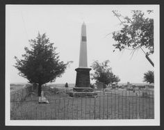 Monument for the victims of the Last Indian Raid in Kansas Located inside the Oberlin Cemetery in Oberlin, Kansas, the monument was erected by the State of Kansas and Decatur County to honor the memory of the nineteen settlers that were killed by a band of Northern Cheyenne Indians on September 30, 1878.  Date: Between 1940s and 1950s                                        These photographs show the monument for the ...