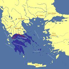 Τα σύνορα του ανεξάρτητου ελληνικού κράτους.