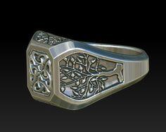 wedding ring signet ring mens rings celtic ring celtic