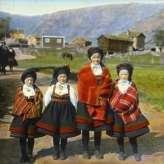 I want to culturally appropriate this SO HARD Vintage Posters, Vintage Photos, Folk Costume, Costumes, Sons Of Norway, Kristiansand, Ethnic Dress, Antique Clothing, Old Pictures