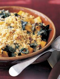Swiss Chard Butternut Squash Gratin-I've declared this the most perfect Thanksgiving side EVER.  So good!