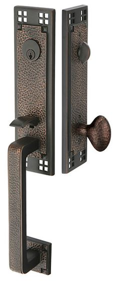 I'm looking for new front door hardware, and I love FLW and Mission designs.