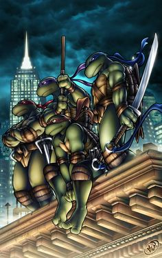 Ahhh, TMNT. WTF happen . The movie was horrible, the cartoon stink. However the Comic Book is great. David Eastman bring back the  80's TMNT...