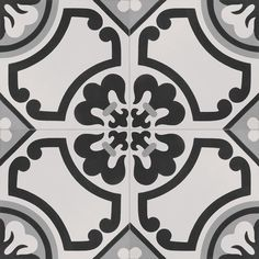 InDesign Cementine Lily 16 in. x 16 in. Durabody Ceramic Floor and Wall Tile (17.22 sq. ft. / case)-IN.CETN.LILY.188.1001HD.1 - The Home Depot