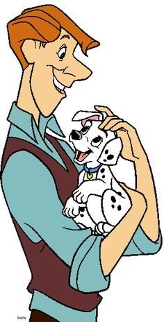 *ROGER & one of the PUPPIES ~ 101 Dalmatians, 1961