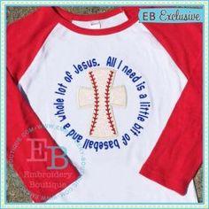 Baseball Jesus Applique