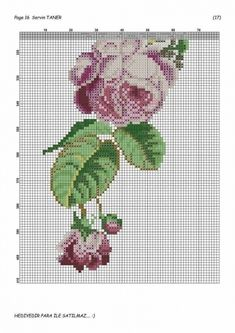 Geri Dönüşüm Projeleri Cross Stitch Rose, Cross Stitch Flowers, Cross Stitch Charts, Cross Stitch Patterns, Fair Isle Pattern, Prayer Rug, Bargello, Free Pattern, Diy And Crafts