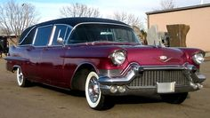 1957 Cadillac Hearse. Constructed by Miller Meteor Coach Company.