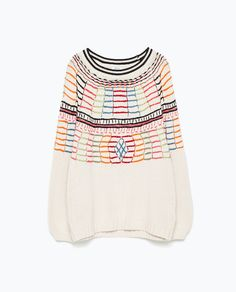 Image 6 of COLOURED EMBROIDERY SWEATER from Zara