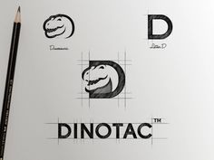 Dinotac Logo designed by Garagephic Studio. Connect with them on Dribbble; the global community for designers and creative professionals. Typo Logo, Logo Branding, Branding Design, Typography Design, Corporate Design, Corporate Identity, Brochure Design, Visual Identity, Graphisches Design
