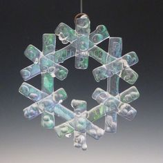 CRYSTAL+Crystalline+Clear+Iridized+Snowflake+Fused+by+TheWoCo