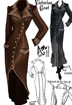 Victorian Trench Coat by Amber Middaugh