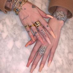 30 Glamour and Stylish Long Nails Art Design for 2020 - - Betherelove Aycrlic Nails, Nude Nails, Coffin Nails, Glitter Nails, Blush Nails, Manicure, Long Fingernails, Long Nails, Nail Art Designs