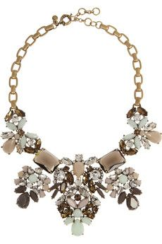 J.Crew Crystal Abundance gold-plated crystal necklace | NET-A-PORTER--- Affordable but looks so expensive!