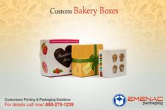 Custom Bakery Boxes ordered in bulk quantity with premium printing