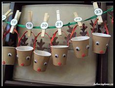 Noël 2014: centres de table et calendrier de l'avent
