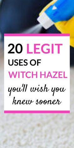Household Cleaning Tips, House Cleaning Tips, Cleaning Hacks, Borax Cleaning, Simple Life Hacks, Useful Life Hacks, Witch Hazel Uses, Natural Cleaning Products, Natural Products