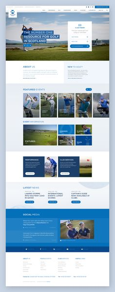 Scottishgolf homepage desktop