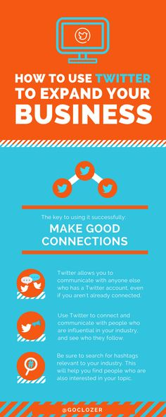How to use Twitter to expand your business.