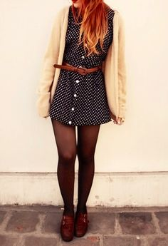 polka dots are so cute! and the shoes are perfect.