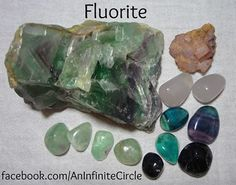 """~Stay focused today! Carry a piece of Fluorite on you or keep one close to you when learning or working.  Fluorite occurs in a rainbow of colors and forms. Fluorite is excellent for learning, keeping you focused. It helps the brain in retention, organization, and utilization. You will absorb new information quickly while linking to what is already known.  """"I feel the focused energy within me""""~"""