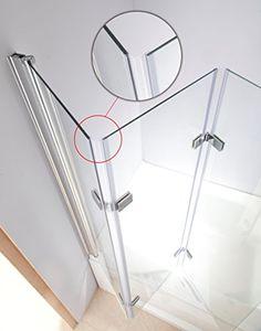 Mampara de Vidrio Seattle para bañera, plegable, pared de ducha, 6mm, de Vidrio Templado - Materiales de construccion online