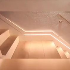 Motion Sensor Stair Lights - Buy Today Get Up Discount House Ceiling Design, Home Stairs Design, Ceiling Design Living Room, Bedroom False Ceiling Design, Home Room Design, Modern House Design, Home Interior Design, Living Room Designs, Interior Decorating