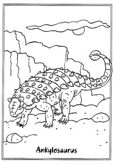 Coloring Page Dinosaurs 2