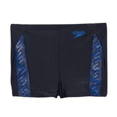 Speedo Boy's navy monogram swim shorts- at Debenhams.com