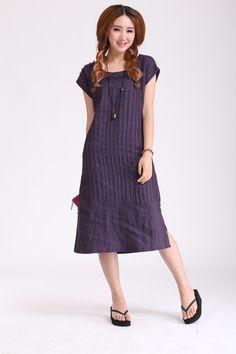 Maxi Dress Unique Loose fitting Long Vest por FashionColours