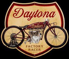 Daytona Factory Racer Motorcycle Sign