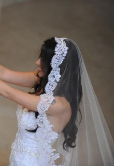 Love this veil, I plan to wear my hair down... This is going to look great!