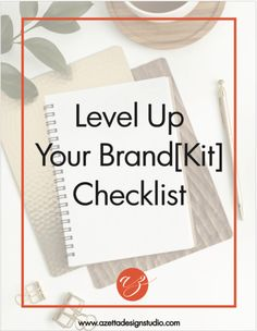 This Level Up Your Brand-kit Checklist is meant to help you make a meaningful first impression. Your brand is more than just your logo. It is about how we show up for our clients. Free downloadable for getting started on your brand. For small businesses that are looking to create their brand.