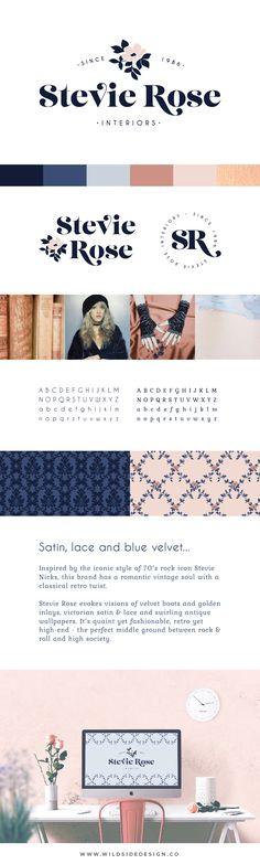 BRAND FOR SALE :: Boho Vintage Logo :: Stevie Rose by Wild Side :: Beauty, Jewelry, Blog, Photography, Wedding Logo.