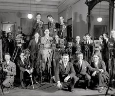 Cameramen in the office in New York City, 1929 Source: Vintage Everyday