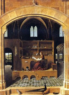 St. Jerome in his study by Antonella da Messina