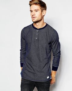 ac41f6e76929f Sweatshirt by Pepe Jeans Jacquard sweat Ribbed collar Three button placket  Ribbed cuffs Logo patch detail Slim fit - cut closely to the body Machine  wash ...