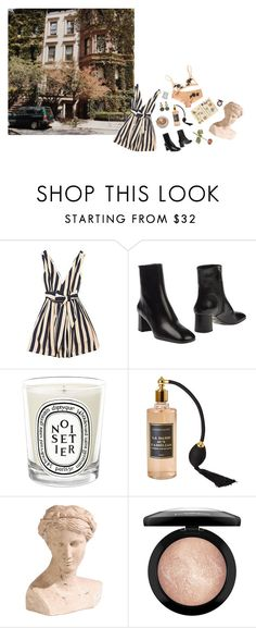 """ivy & brownstone"" by hasalam ❤ liked on Polyvore featuring Prada, Diptyque, Ethan Allen and MAC Cosmetics"