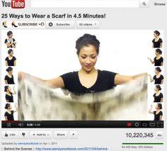 25 unique ways to tie a scarf tutorial - love this!